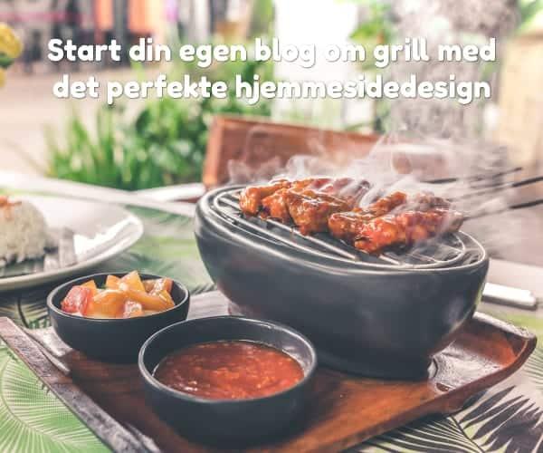 Start din egen blog om grill med det perfekte hjemmesidedesign